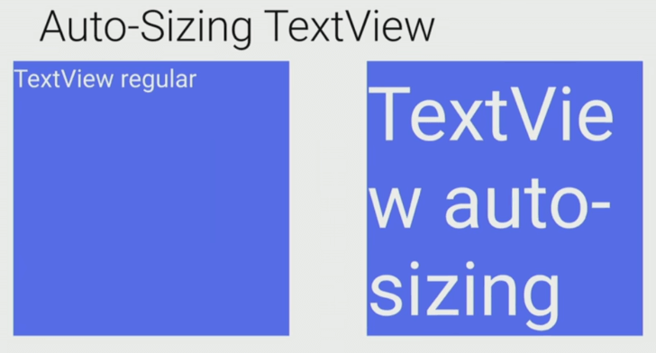 Example of Auto-Sizing Textview
